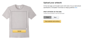 Merch by Amazon - Upload